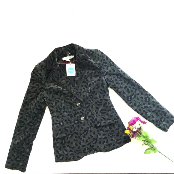 00286c199cbe Boden Jackets & Coats | Velvet Animal Print Annabel Blazernwt | Poshmark